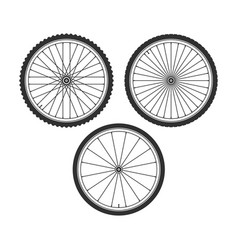 Bicycle wheel symbol vector
