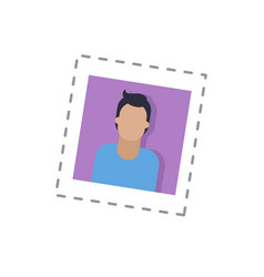 blogger male main picture isolated sticker vector image