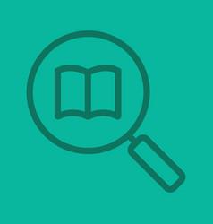 book search color linear icon vector image
