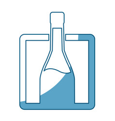 bottle wine drink alcoholic label shadow vector image