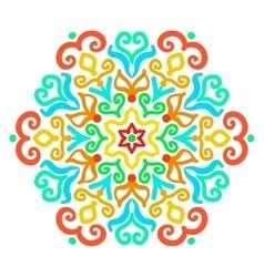 Bright Hexagon Ornament vector image