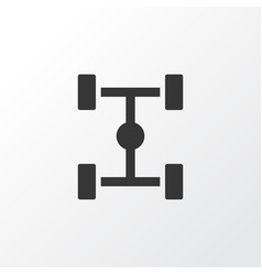 chassis icon symbol premium quality isolated vector image