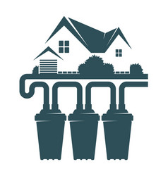 Cleaning water filters in the house vector