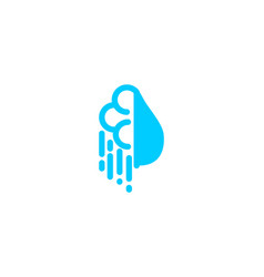 cloud water drop logo designs inspiration vector image