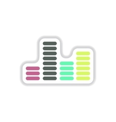 color label design collection of sound and audio vector image