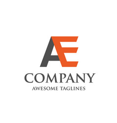 creative letter ae logo vector image