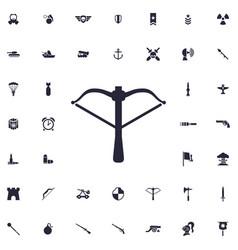 Crossbow icon vector