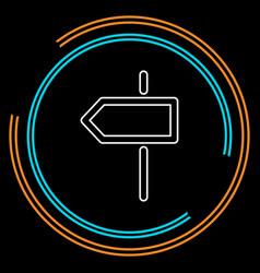 crossroad direction icon vector image