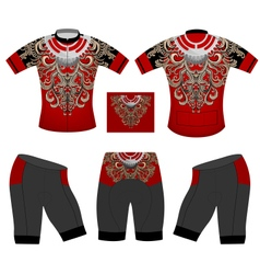 Cycling vest pattern vector