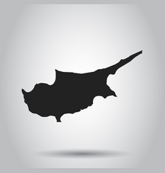 Cyprus map black icon on white background vector