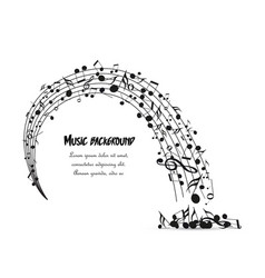 decoration of musical notes vector image
