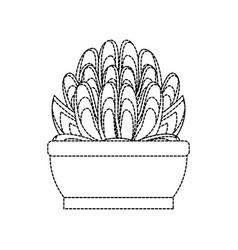 desert plant in pot vector image