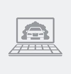 Diagnosis for car pollution vector