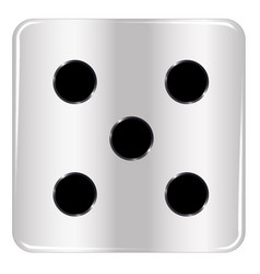 Dice number five vector
