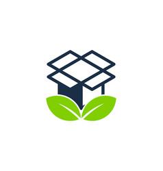 eco box logo icon design vector image