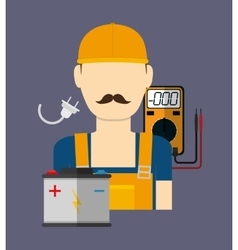 Electric technician man vector image