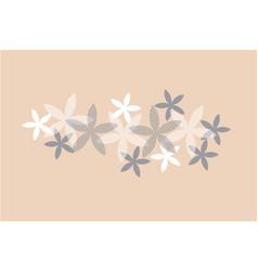 Elegant rosy beige floral pattern vector