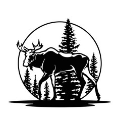 Elk moose wildlife wildlife stencils - forest vector