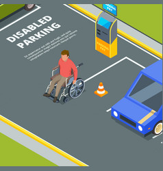 entrance for urban parking for disabled peoples vector image