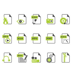 Files icon setgreen series vector