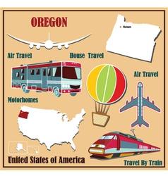 Flat map of Oregon vector