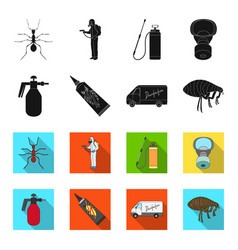 flea special car and equipment blackflet icons vector image