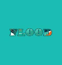 Flood concept word art vector