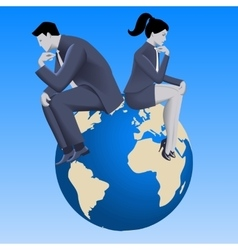 Global business concept vector
