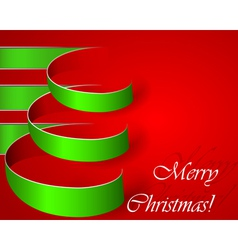 Green stripe Christmas tree eps10 vector image