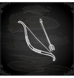 Hand drawn bow and arrow vector