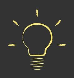 Hand drawn light bulb vector