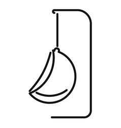 Hanging chair icon outline style vector