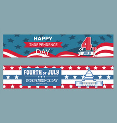 happy independence day set vector image
