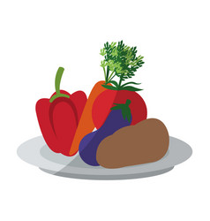 Healthy vegetable icon vector