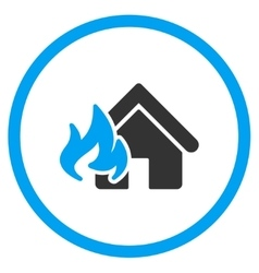 Home fire damage icon vector