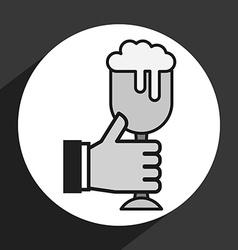 Ice beer vector