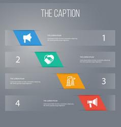 Icon trade set of amplification factory vector