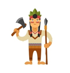 Injun with weapons vector