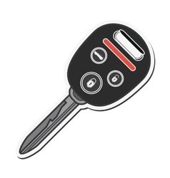 key car automobile design vector image
