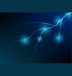 lightning and thunder bolt effect background vector image