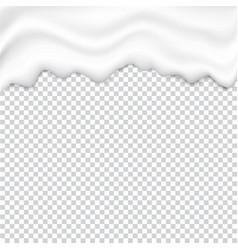 Liquid creamy white texture vector