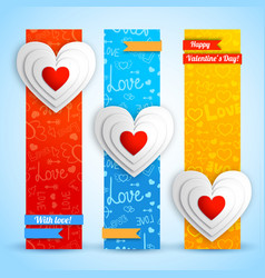 Lovely vertical banners vector
