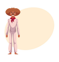Mexican man in traditional national costume and vector