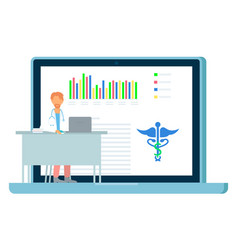 online consultation with doctor medical website vector image