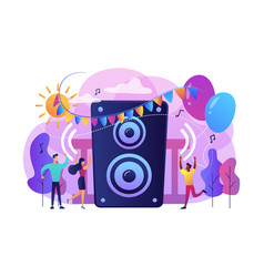 open air party concept vector image