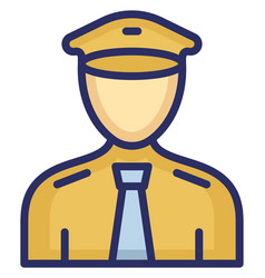 Pilot icon which can easily modify or edit vector