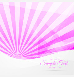 Pink rays background with white wave vector