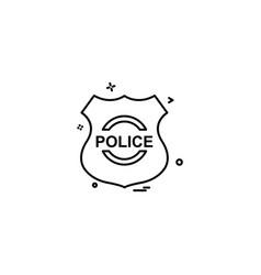police shield emblem force icon design vector image