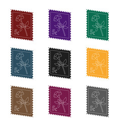 postage stampmail and postman single icon in vector image vector image