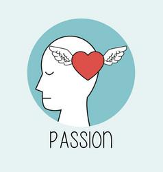 Profile human head passion vector